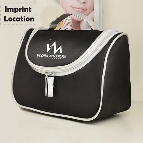 Fashion Designer Womens Cosmetic Toiletry Bag Imprint Image