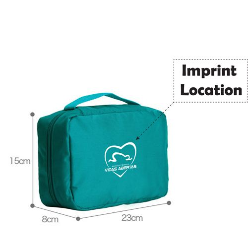 Travel Necessary Toiletry Hanging Bag Imprint Image