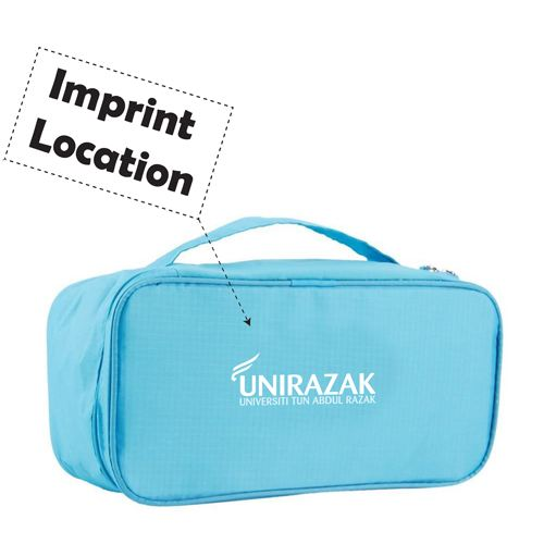 Waterproof Travel Bra Underwear Lingerie Cosmetic Bag Imprint Image