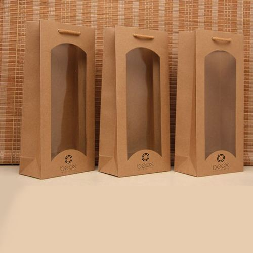 Wine Bags with Window Olive Oil Waterproof Handbags Image 2