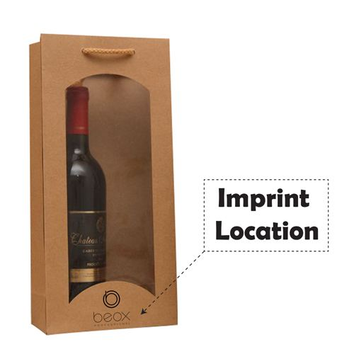 Wine Bags with Window Olive Oil Waterproof Handbags Imprint Image