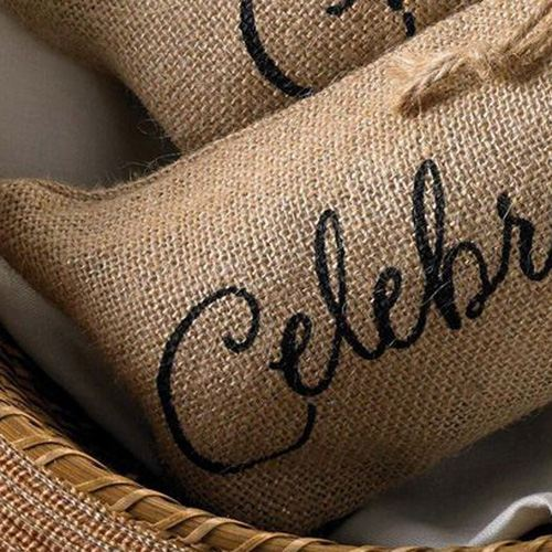 Celebrate Printed on Burlap Jute Wine Reusable Bags Image 2