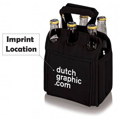 Insulated Beer Carrier Water Bottle Holder Imprint Image