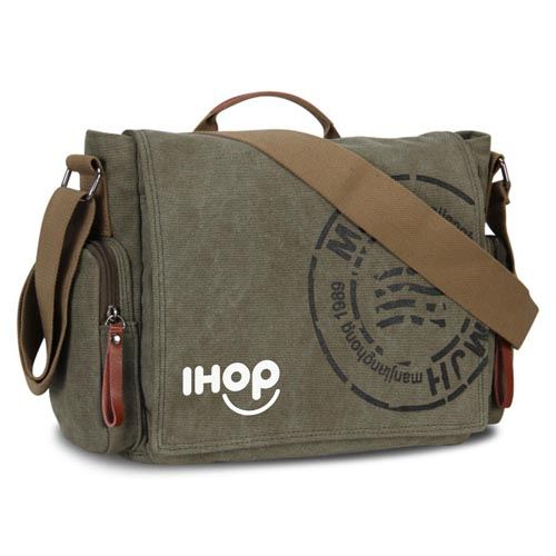 Canvas Business Crossbody Printing Travel Bag Image 1
