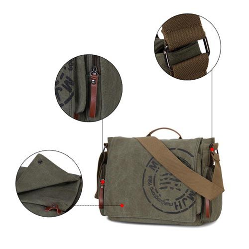 Canvas Business Crossbody Printing Travel Bag Image 4