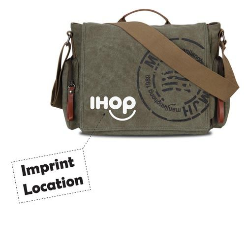Canvas Business Crossbody Printing Travel Bag Imprint Image