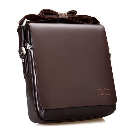 Genuine Leather Kangaroo Shoulder Bag Image 1