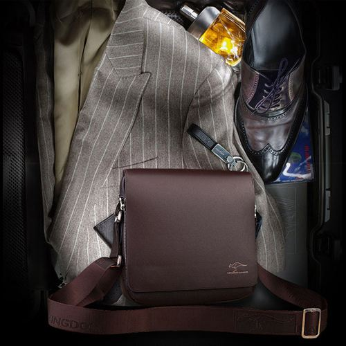 Genuine Leather Kangaroo Shoulder Bag Image 3