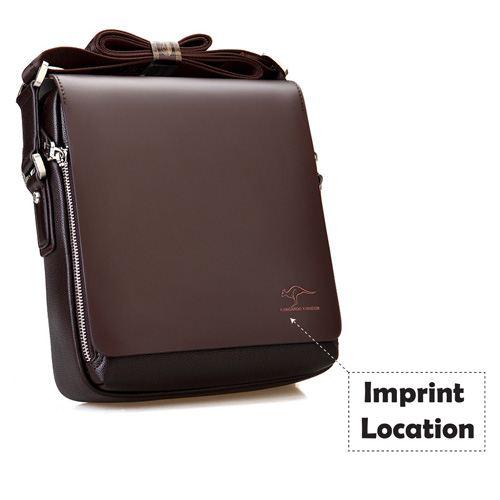 Genuine Leather Kangaroo Shoulder Bag Imprint Image