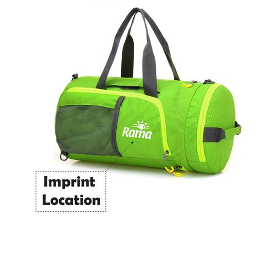 Waterproof Foldable Durable Travel Duffle Bags Imprint Image