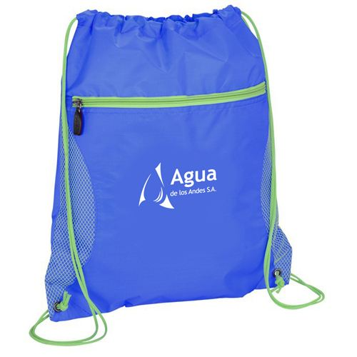 Solid Color Printing Drawstring Backpack