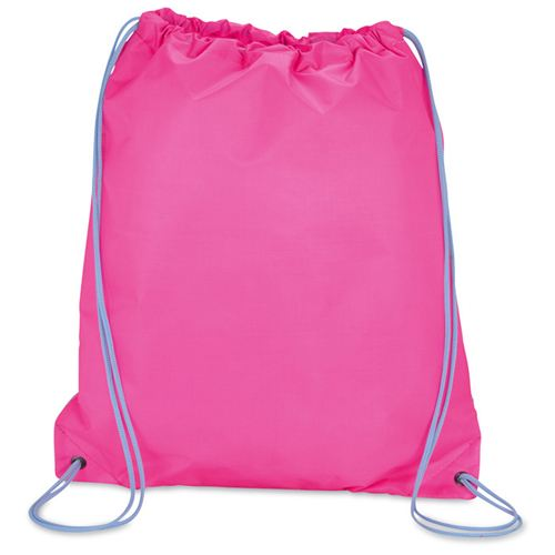 Solid Color Printing Drawstring Backpack Image 2