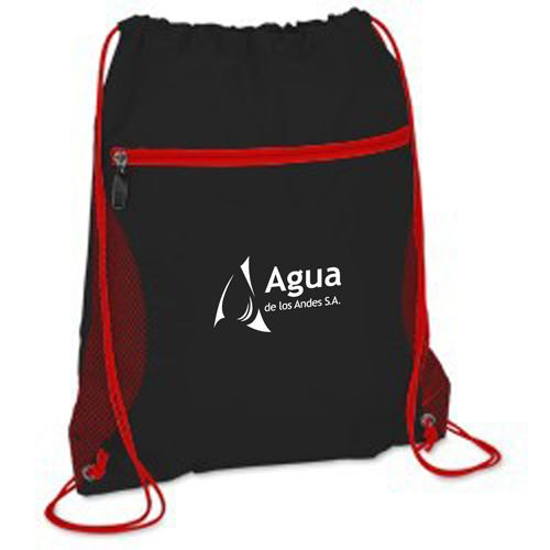 Solid Color Printing Drawstring Backpack Image 3