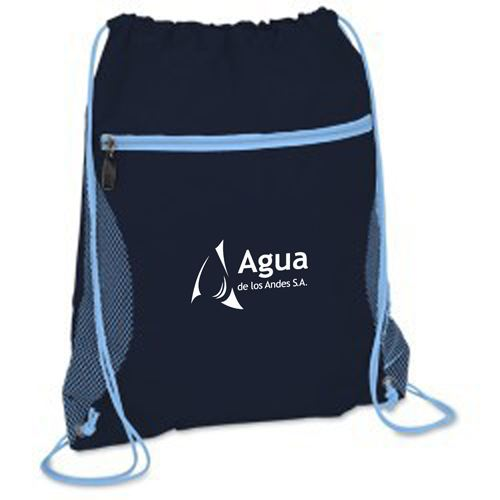 Solid Color Printing Drawstring Backpack Image 4