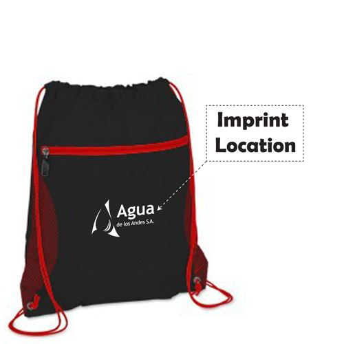 Solid Color Printing Drawstring Backpack Imprint Image