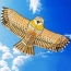 Golden Eagle Flying Kite with Handle Line