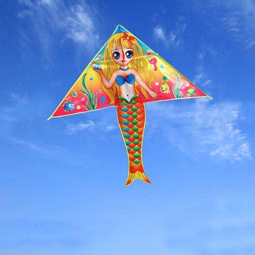 Large Mermaid 20pcs/lot Kite with handle Line
