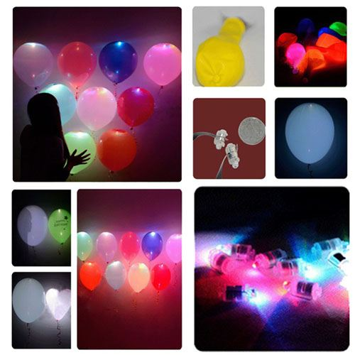 Flash LED Light Up Balloons Image 3