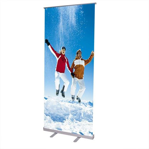 Adjustable 32x79 Inch Retractable Roll Up Banner Stand