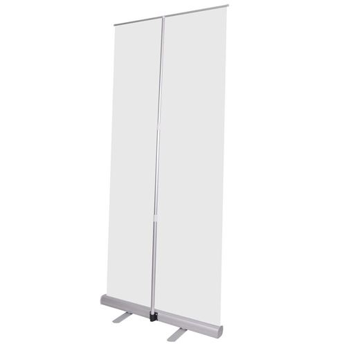 Adjustable 32x79 Inch Retractable Roll Up Banner Stand Image 1
