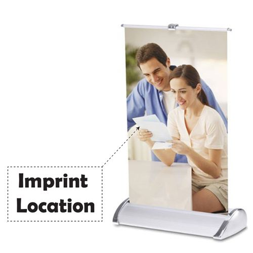 Mini Table Top 11x17 Inch Banner Stand Imprint Image