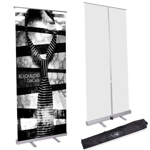 Telescopic Economy Roll Up Retractable Banner Stand