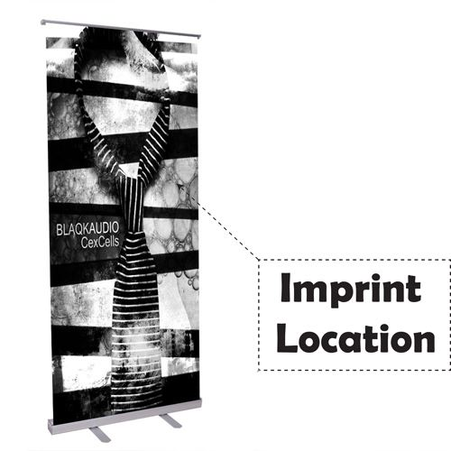 Telescopic Economy Roll Up Retractable Banner Stand Imprint Image