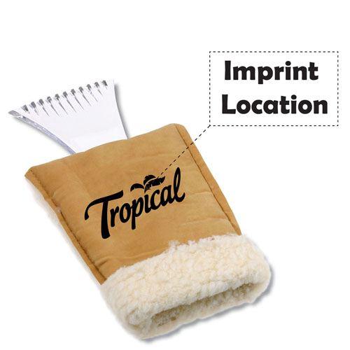 Deluxe Ice Scraper Mitt Imprint Image