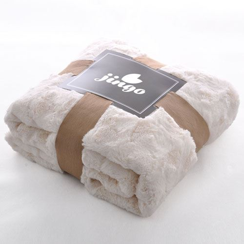 Baby Plush Faux Fur Throw Blanket Image 1