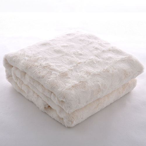 Baby Plush Faux Fur Throw Blanket Image 2