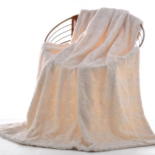 Baby Plush Faux Fur Throw Blanket Image 3
