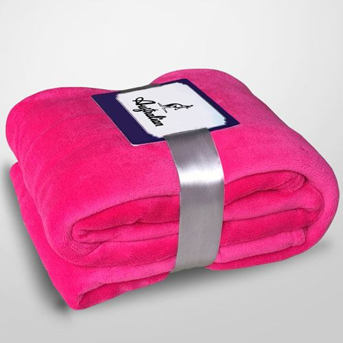 Solid Color Modern Coral Fleece Blankets Image 1