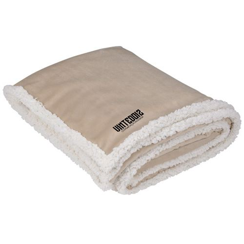 Finest Custom Promotional Sherpa Blanket