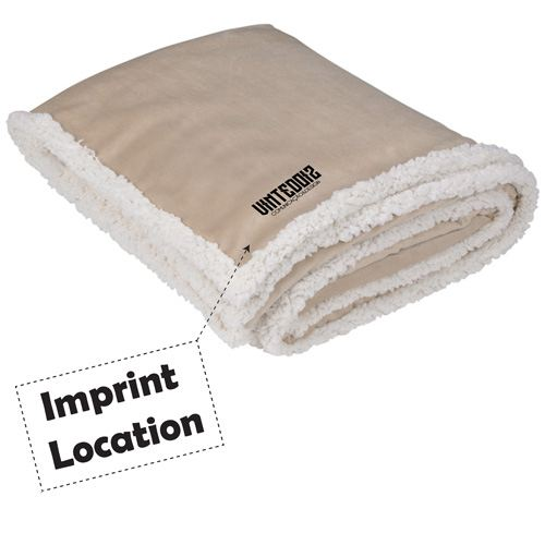 Finest Custom Promotional Sherpa Blanket Imprint Image