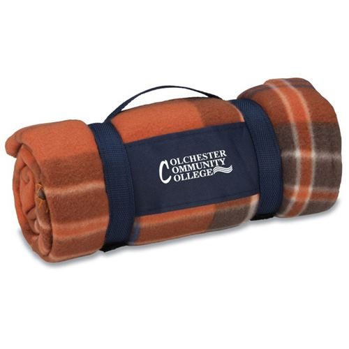 Rust Plaid Galloway Travel Blanket