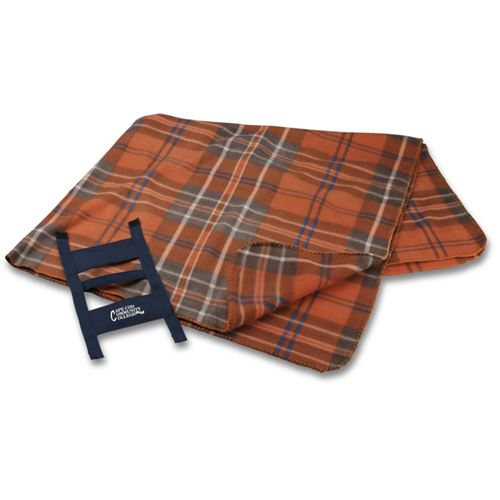 Rust Plaid Galloway Travel Blanket Image 1