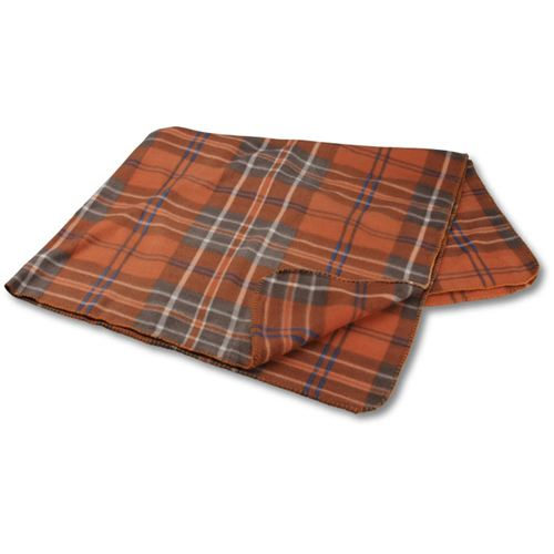 Rust Plaid Galloway Travel Blanket Image 2