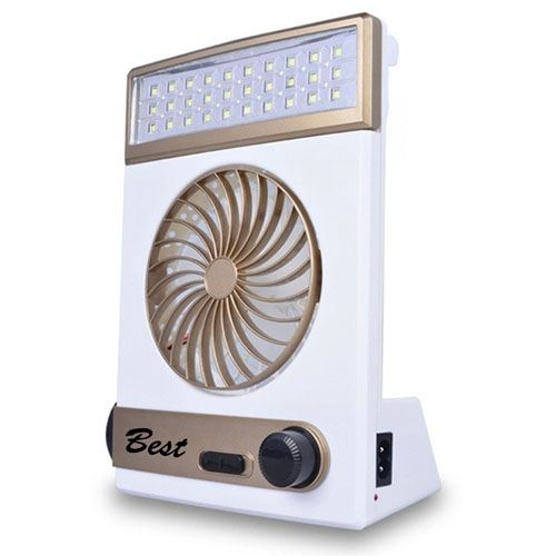 Emergency Solar Fan With LED Light Image 1