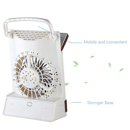 Emergency Solar Fan With LED Light Image 3