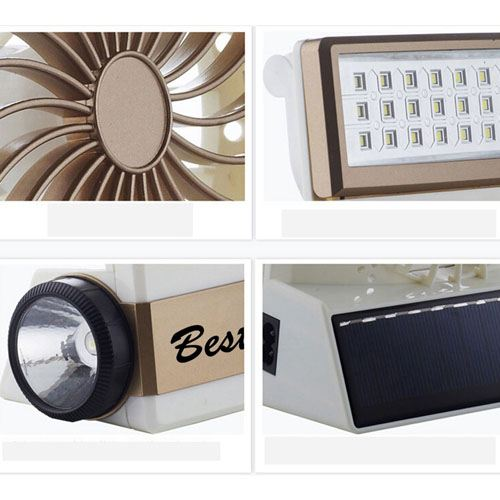 Emergency Solar Fan With LED Light Image 5