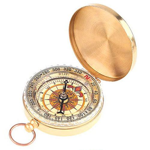 Classic Pocket Camping Compass Image 1