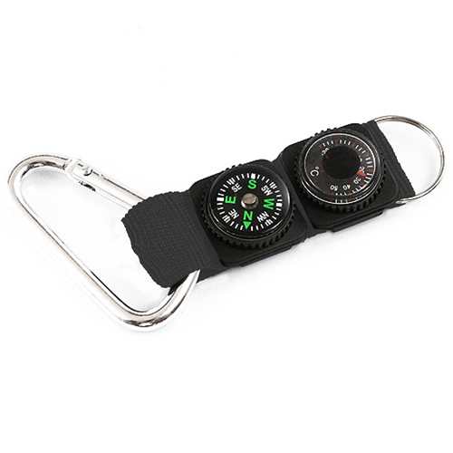 Keychain Compass Thermometer Compass