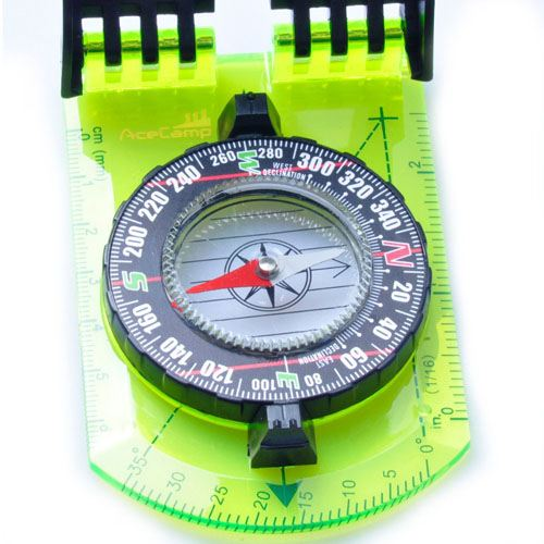 Folding Camping Mirror Compass Image 3