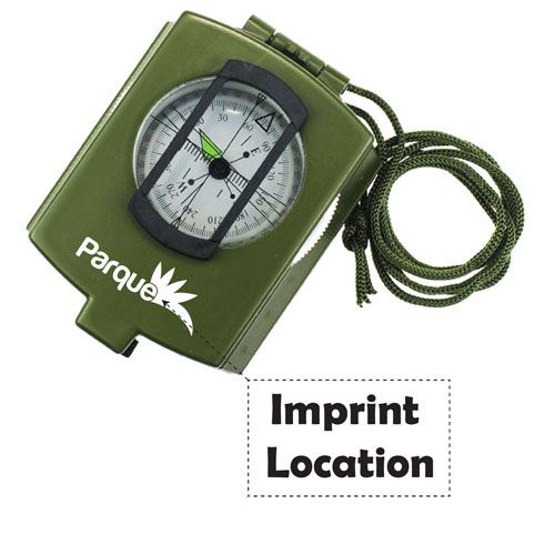 Outdoor Mini Camping Prismatic Compass Imprint Image