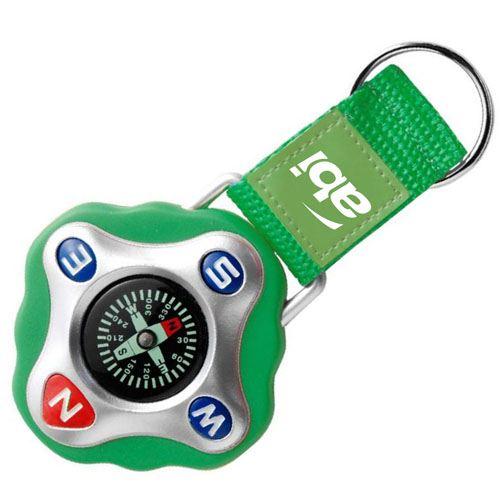 Strap Compass Keychain