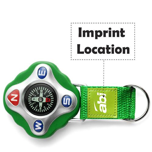 Strap Compass Keychain Imprint Image