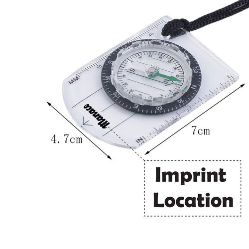 Mini Compass Scale Imprint Image