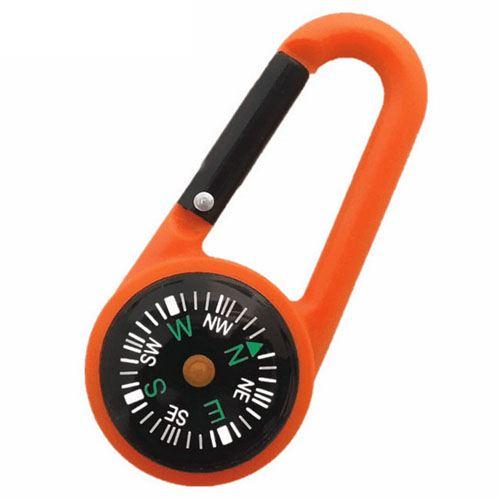 Multi-Function Mini Compass Carabiner Keychain Image 1