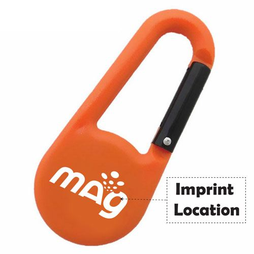 Multi-Function Mini Compass Carabiner Keychain Imprint Image