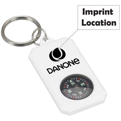 Navigating Key Ring Compass Imprint Image